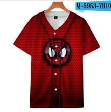 Sommer Mode Männer Frauen T Shirts Avengers Spiderman 3D Print Kurzarm Trend Casual Hip Hop Lose T Shirt Baseball jersey(China)