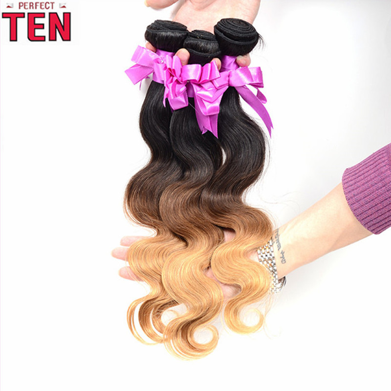Ombre Brazilian Hair Body Wave 4 Bundles Rosa Hair Company Ombre Hair Extensions Wet And Wavy Virgin Brazilian Hair<br>