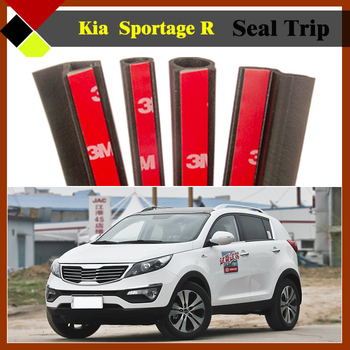 Easy Insulation ! Car Rubber Sealing Hollow Seal Trim Strip SUV Exterior Weatherstrip Noise Control For Kia Sportage R