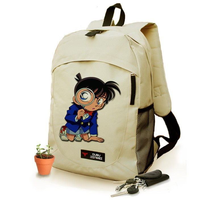 Free shipping Case Closed Backpack Anime Detective Conan Fashion Women Men KID canvas Laptop School Bag
