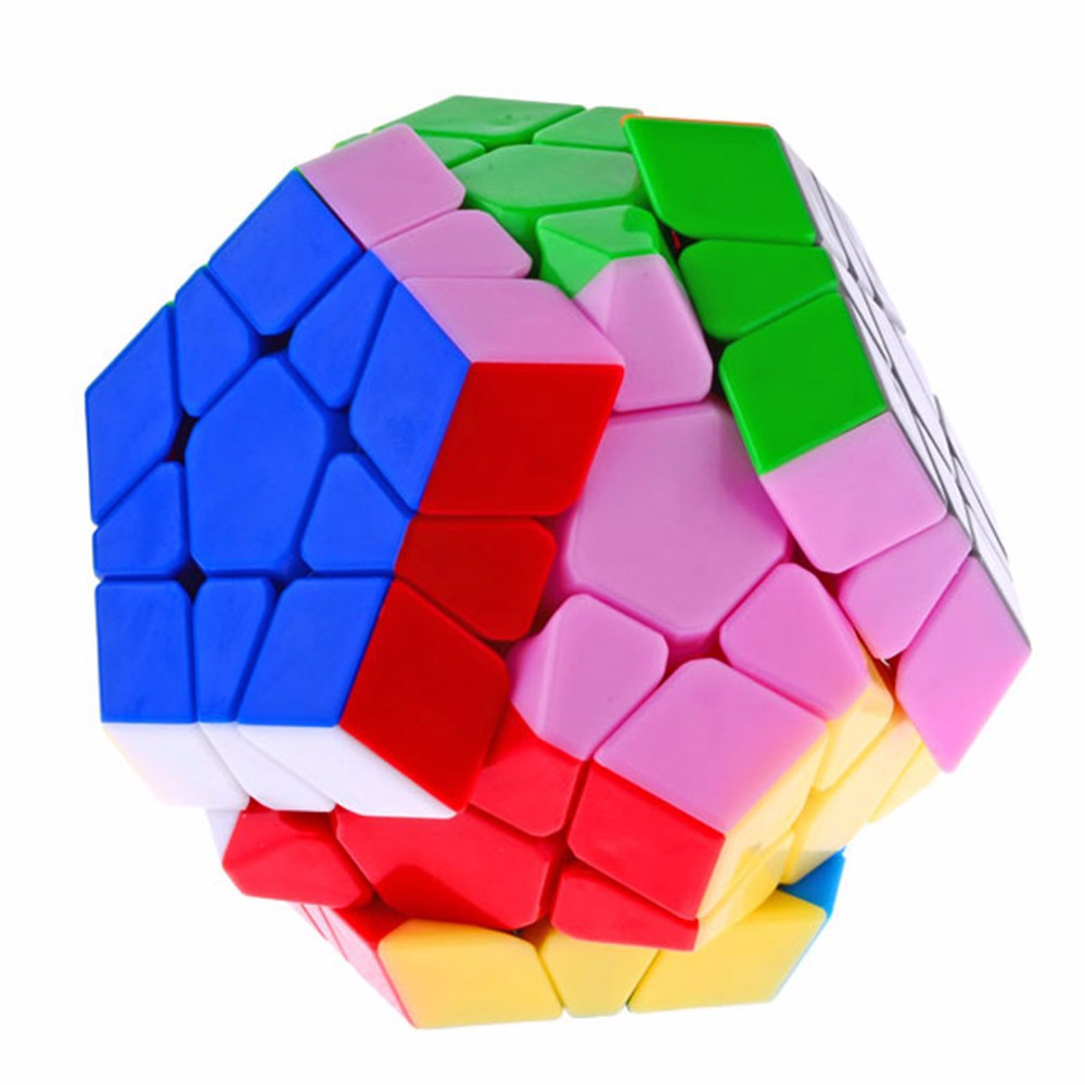 Model New DaYan Megaminx 1 12-axis Three-rank Dodecahedron Stickerless Magic Dice Pace Puzzle Cubes Toys for child Little one