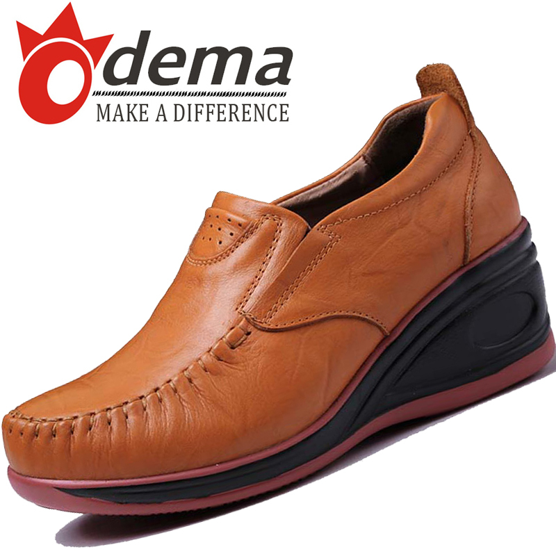 ODEMA 2015 Autumn Fashion Women Shoes Casual Soft Genuine Leather Lady Oxfords Walking - UBELLA store
