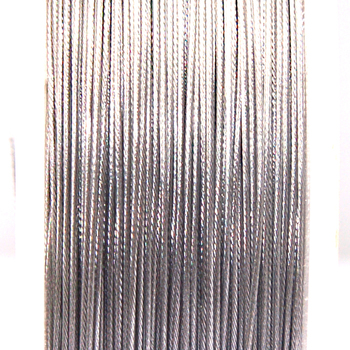 High quality stainless steel wire,0.6mm silver(plain)tigertail beading wire,thread cord,coated with plastic protective film wire