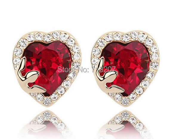 Free shipping!!!Austria Crystal Earring,2014 new fashion girl, Zinc Alloy, with Austrian Crystal, stainless steel post pin<br><br>Aliexpress