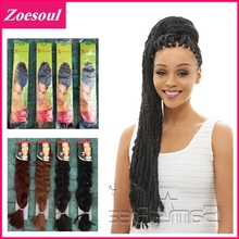 100pcs/lot Ombre Kanekalon X-pression Braid Hair 82″ 165g Marley Braid Hair Extension For Afro Women Super X Braid Hair