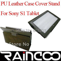"""PU leather case for Sony Tablet S 9.4"""" , For Sony Tablet S case stand"""