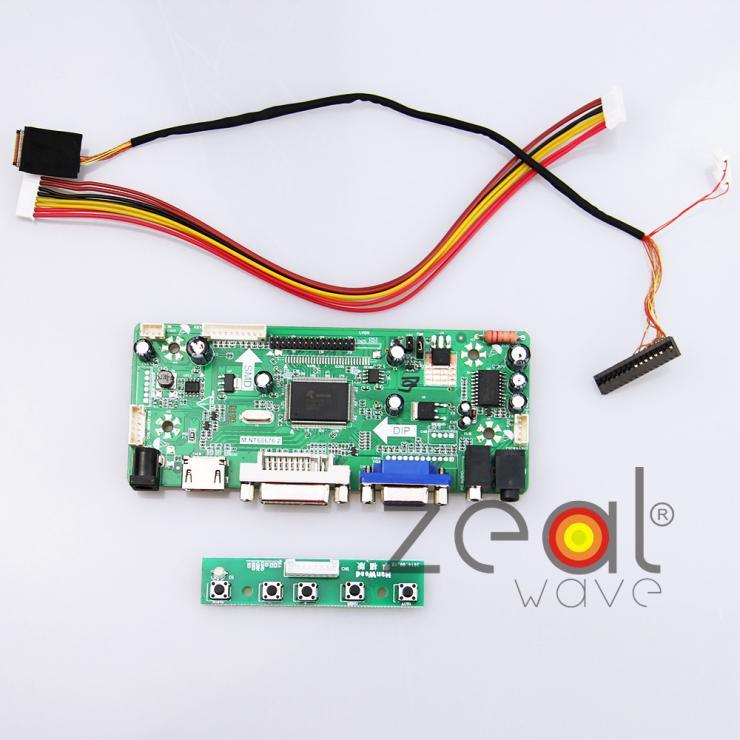 (HDMI+DVI+VGA+Audio) LCD/LED Controller Driver Board For PQ 3QI-01 10.1Inch TFT 1024x600 LCD Screen<br><br>Aliexpress