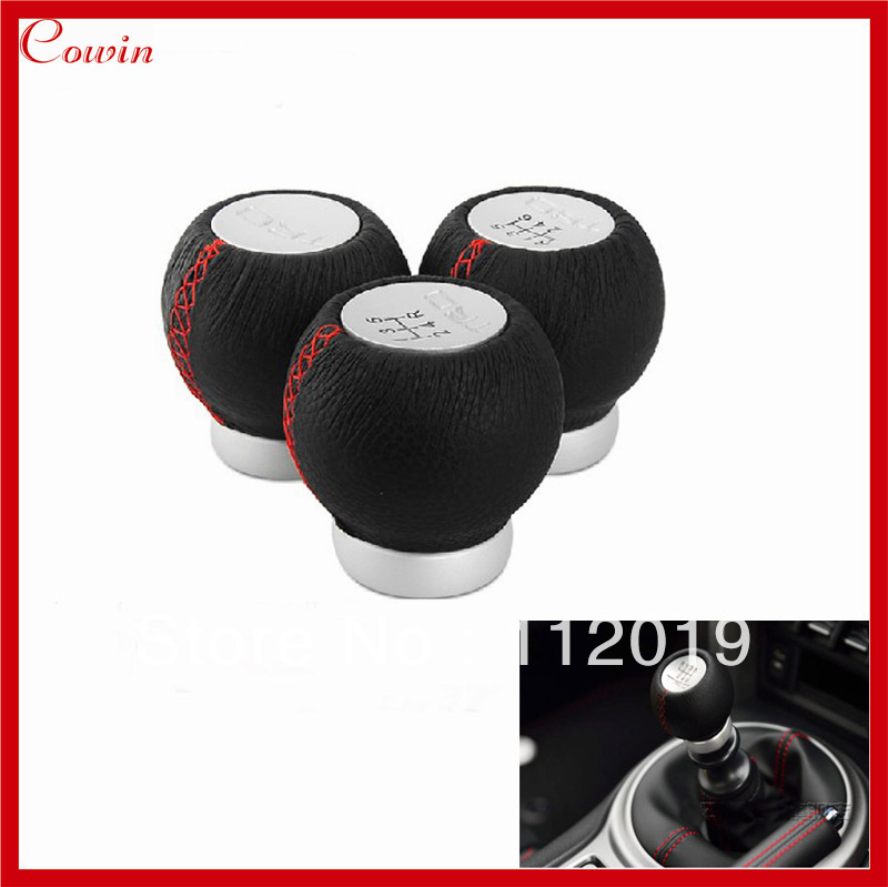 New Cool Wicked 5/6 Speed TRD Real Leather Car Gear Shift Knob for TOYOTA Manual Gear stick Shifter lever knob gear head(China (Mainland))