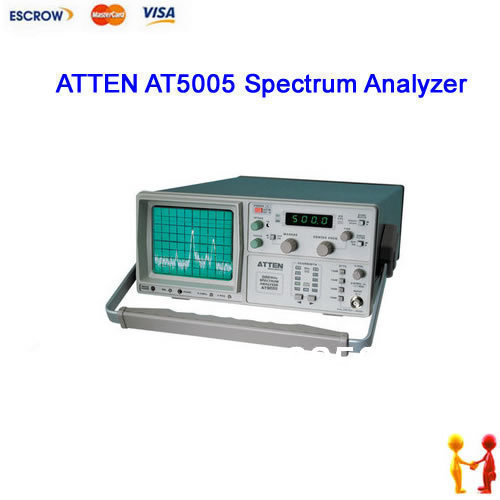 ATTEN AT5005 Spectrum Analyzer 150kHZ to 500MHz -100dBm to +13dBm 110V-240V(China (Mainland))