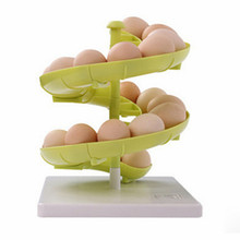 Creaive slide shape kitchen Food storage box Egg rack holder Container Carrier Case fashion healthy kitchen tools free shipping(China (Mainland))