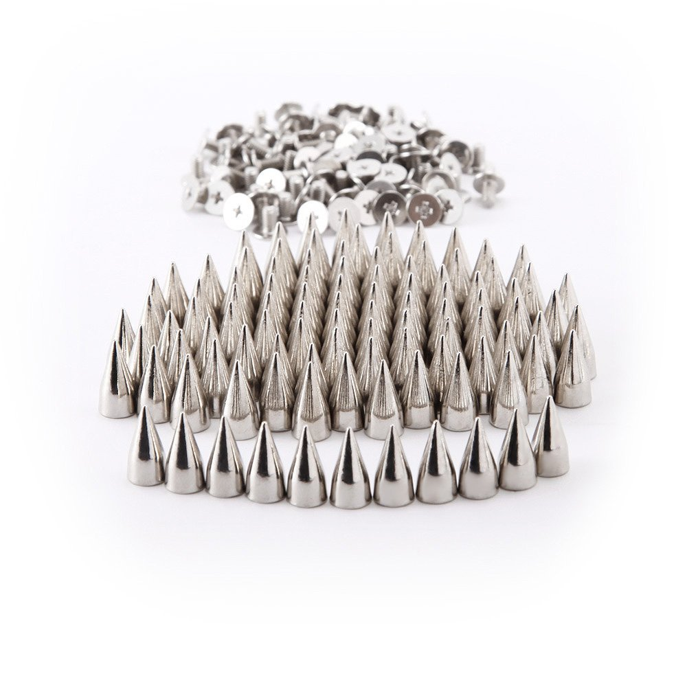 NFLC 100 PCS DIY nails / rivets ball PUNK clothing customization Silver 7x15mm<br><br>Aliexpress