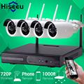 Hiseeu 4CH 720P HD Wireless CCTV System Powerful WIFI NVR IP Camera IR CUT Bullet CCTV
