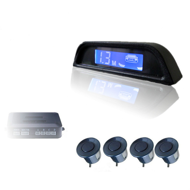 New arriving intelligent LCD display car parking distance control car parking radar with 4 pcs reversed sensors car styling(China (Mainland))