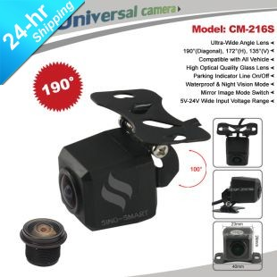 Fast Shipping HD CCD Wide 190 Deg View Angle Universal Parking Reversing Camera Adjustable Bracket Waterproof Night Vision(Hong Kong)