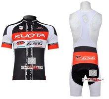 3D Silicone! KUOTA 2011 bib short sleeve cycling jerseys wear clothes bicycle/bike/riding jerseys+bib pants