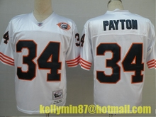 AAAA,Chicago Bears,Jim McMahon,William Perry,Walter Payton,Dick Butkus,Gale Sayers,Mike Singletary,Throwback for men(China (Mainland))