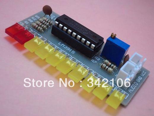 Free Shipping!!! LM3915 Fun 10 segment audio level indicator kit / electronic production parts 10 level indicator(China (Mainland))