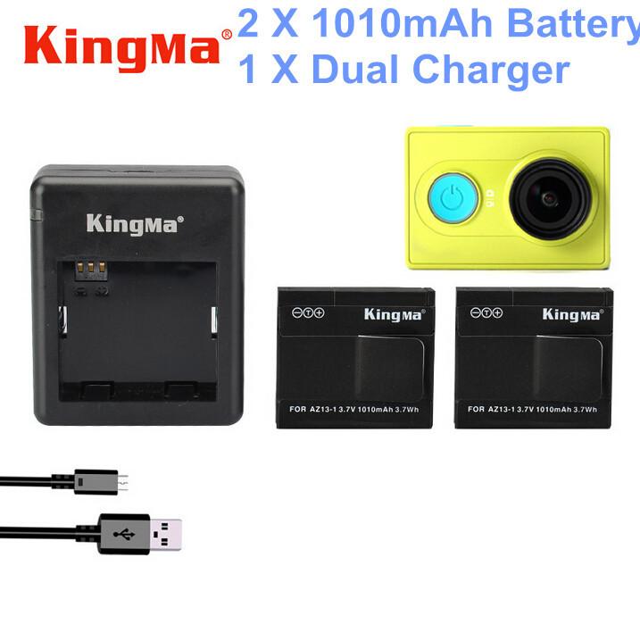 KingMa Battery 1010mAh Xiaomi Xiaoyi Yi Camera Rechargable Batter+Charger Action Accessories - Shenzhen Fang Hao Electronic Technology Co. , Ltd store