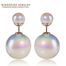 2015 Winter New Design Colorful Pearl Earring 4Colors Shining Pearls Jewelry Cheap Discount Price Jewelry Earring