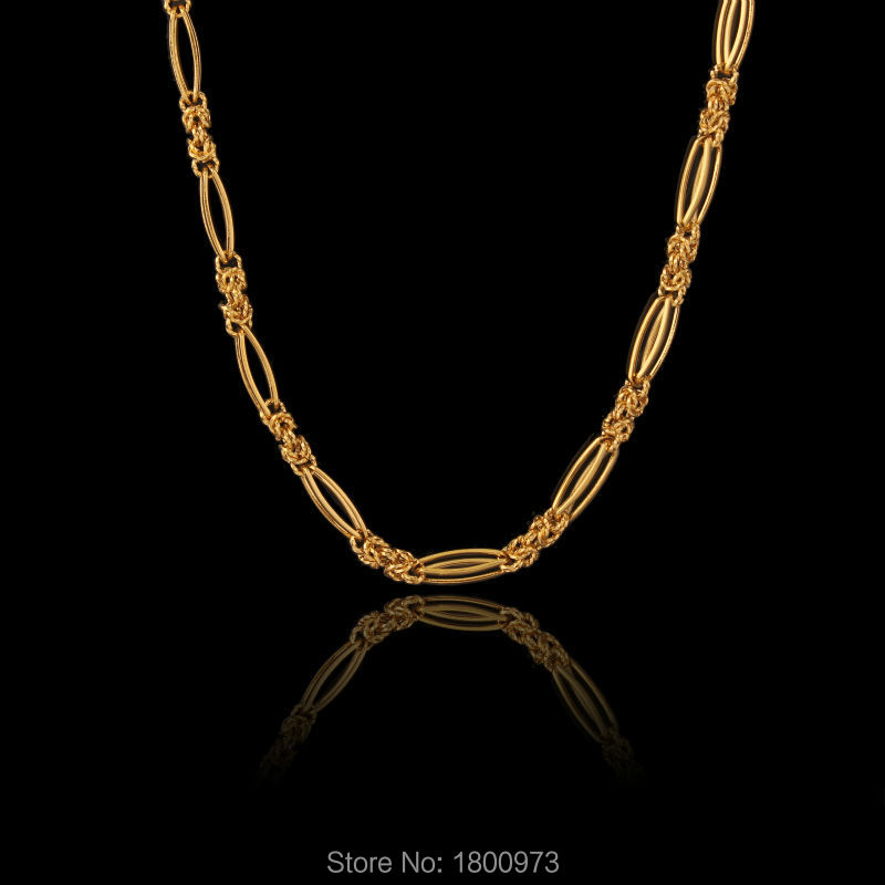 New Vintage Gold Rope Necklace Fashion Jewelry Women Men 18K Gold Plated Chain Chokers Necklaces Wholesale(China (Mainland))