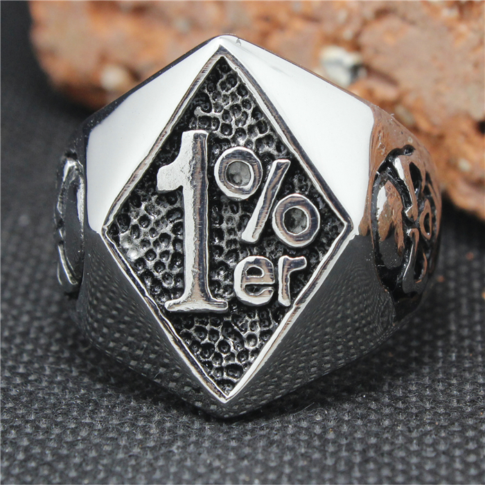 1 er ring reviews online shopping 1 er ring reviews on for Biker jewelry stainless steel