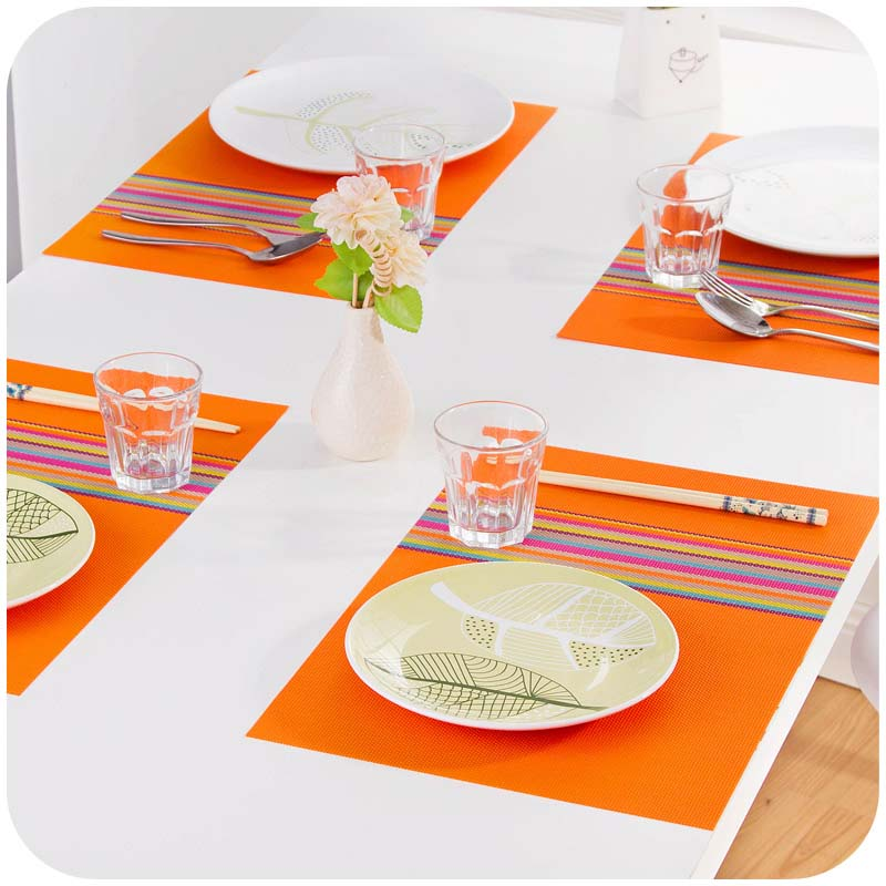 Table Mats Placemat Coffee Tea Place Mat PVC Kitchen Table Mats Dinning Waterproof Table Cloth(China (Mainland))