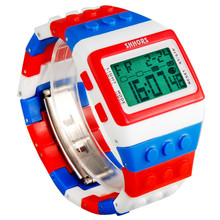 LED Watch Women Kids Watch Fashion Casual Cartoon Watches Colorful Rainbow Girls Boys Digit Clock Hour