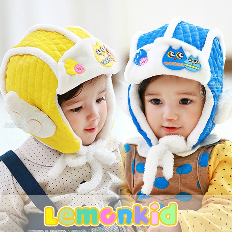 Hot Sale Toddlers Warm Baby Cap Hat Beanie Cool Baby Boy Girl Kids Infant Winter Pilot Cap Free Shipping (6M-4Yeas Old)(China (Mainland))