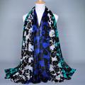 Fashion Ombre Floral Viscose Shawl Scarf Bufandas Mujer 2016 Ladies Printed Voile Headwear Sjaal Wrap Snood