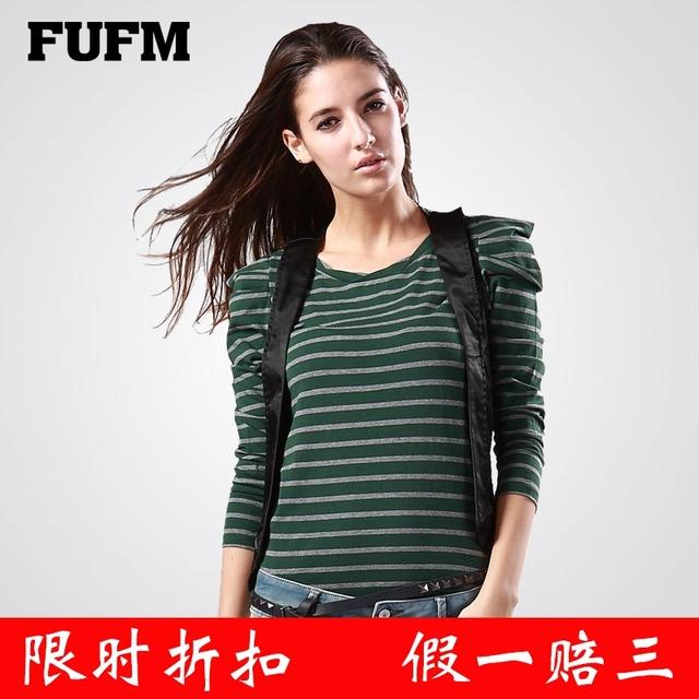 Fufm 2013 winter women's fashion personality stripe vest clip small vest
