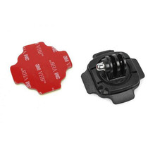 360 Degree Rotate Gopro Helmet Curved Adapter + 3M sticker Mount Go Pro Hero 4/3+/3/2/SJ4000 SJ5000 Xiao Mi YI Camera GP124 - Shenzhen Adika Tech. Co., Ltd. store