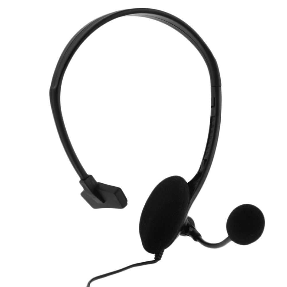 New Handsfree Over-ear Wired Game Earphone Headphones Gaming Headset with Boom Microphone VOL For PC Video Playstation PS4 Black
