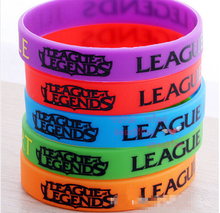 Hot Promotion Gift Fashion Webgame New LOL Silicone Bracelet For Fashion Man and Woman Silicone Wristband Free Shipping