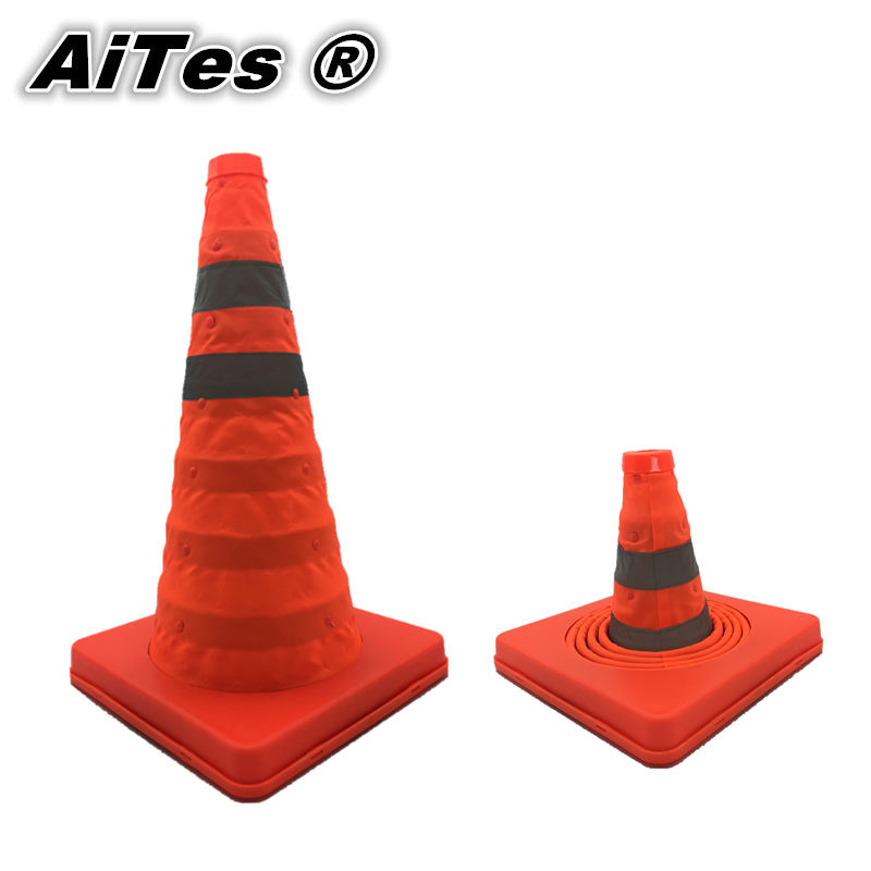 PPS Telescopic road reflective barricades telescopic lift emergency road cone traffic cone warning Safety Cones Free shipping(China (Mainland))