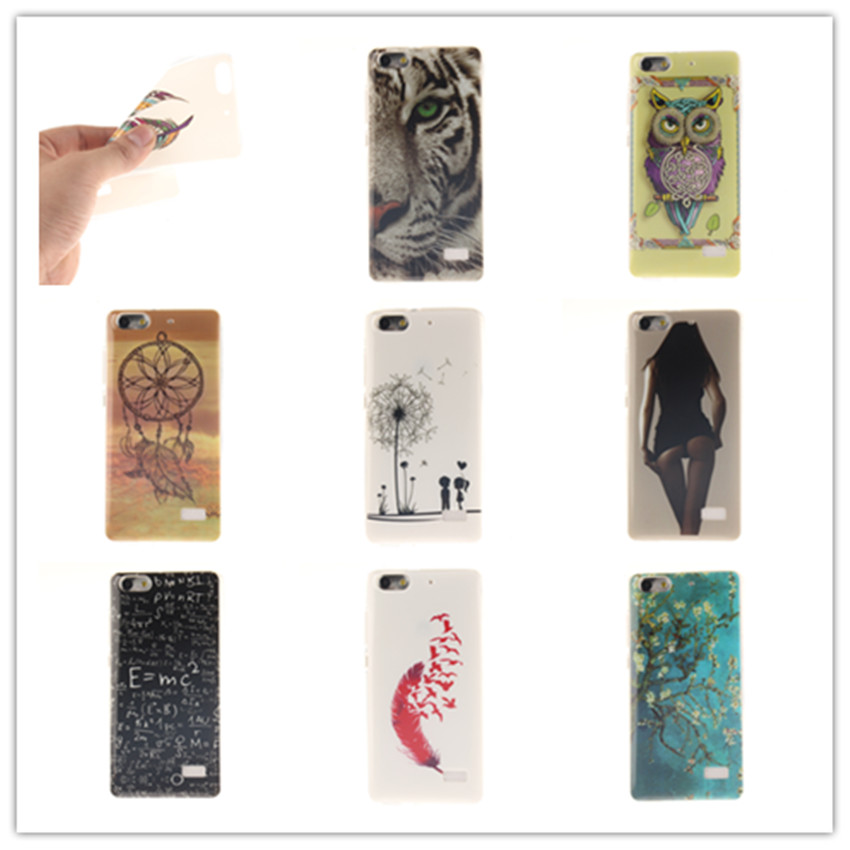 Adorable Colored Drawing Hard Back Case Cover For Huawei Honor 4C C8818 Huawei G Play Mini Cell Phone Protective Cases Cover(China (Mainland))