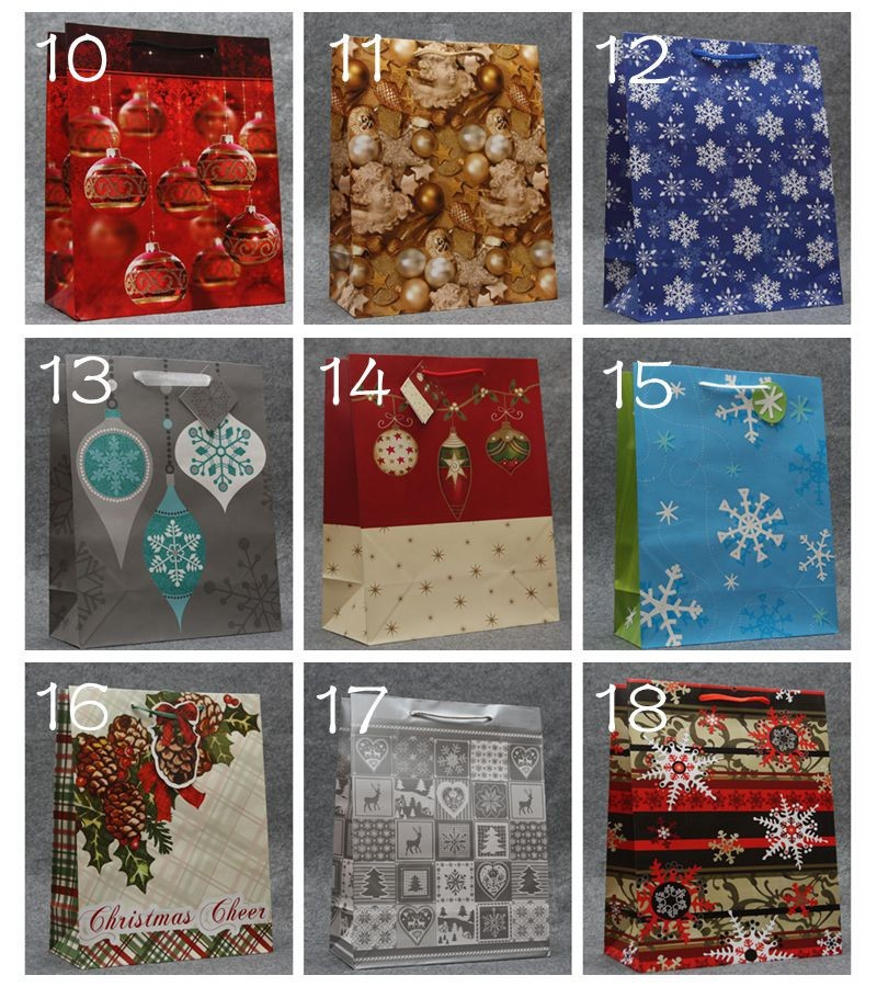 Free shipping . Hight quality 9 colors New Christmas paper bag, ,Festival gift bag ,size32*26*12.5 cm 100piece\lot(China (Mainland))