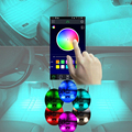 Car Interior RGB LED Strip Light Atmosphere Decoration Lamp with Phone APP Control For Audi A8