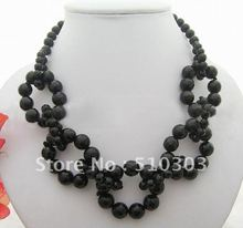 Charming! Faceted Onyx Necklace-Onyx Toggle Clasp(China (Mainland))