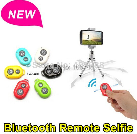 2015 New Arrival Wireless Bluetooth Shutter Remote Control Camera for iPhone 5s for Samsung HTC Sony Moto iOS / Andriod(China (Mainland))