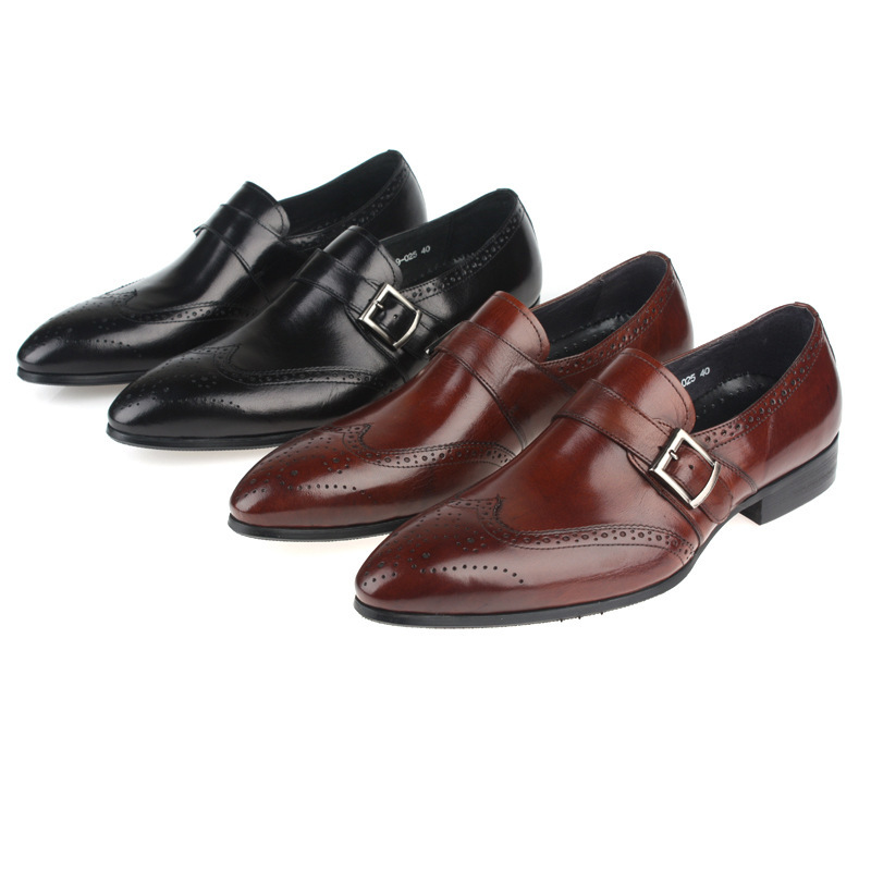 Foreign Trade shoes set foot pure high-grade leather men wedding shoes trend style men oxfords shoes genuine leather(China (Mainland))