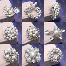 Free shipping wholesale top quality fashion pearl jewelry for women rhinestone brooch, 2015 Hot brooch(China (Mainland))