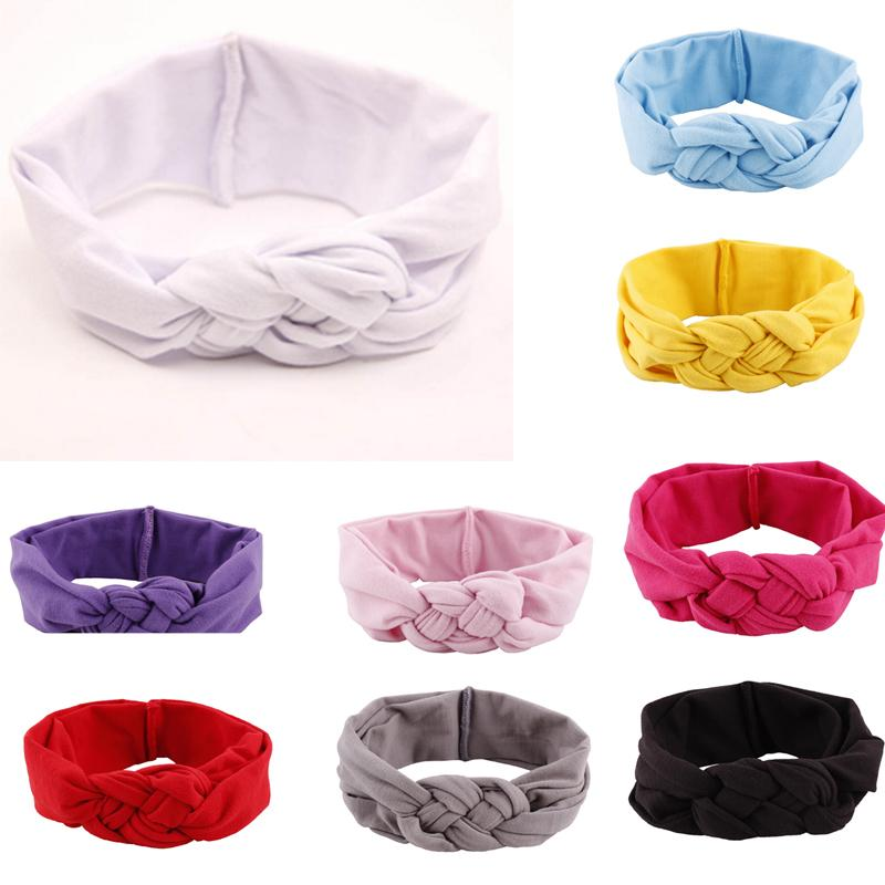 7Color Hot Hair Accessories Baby Toddler Soft Girl Kids Cross Hairband Turban Knitted Knot Headband Headwear Hair Bands(China (Mainland))