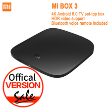 Offical Version Xiaomi Mi TV Box 3 Android 6.0 4K 8GB HD WiFi Bluetooth Multi-language Youtube DTS Dolby IPTV Smart Media Player(China (Mainland))