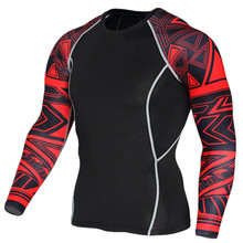 Buy 2017 Newest 3D Print Long Sleeve T Shirt Fitness Men Bodybuilding Crossfit Brand Compression Shirts Clothing for $7.99 in AliExpress store