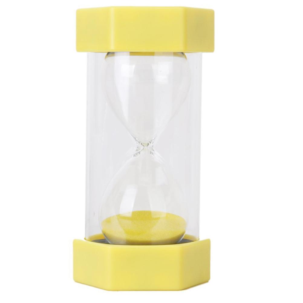 Magic Plastic Hexagonal Cover Style 3 Minutes Hourglass Sandglass Sand Clock Timer (Yellow)(China (Mainland))