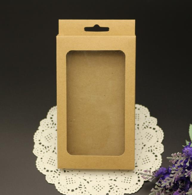 Size:15.5*9*1.5cm, phone case box , cell phone case packaging box , gift box packaging kraft(China (Mainland))