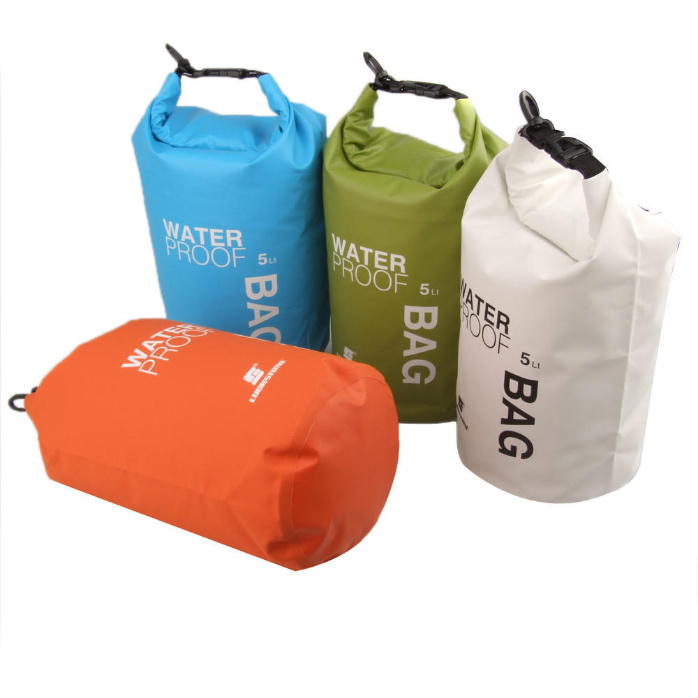 2015 New Coming! 5L Ultralight Camping Travel Rafting Waterproof Outdoor Dry Bag Swimming Travel Bag Kit Orange/White/Green/Blue(China (Mainland))