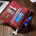 Leather Wallet Case for Samsung Galaxy S8 Plus S7 Edge Retro Fashion Flip Phone Cover Bag