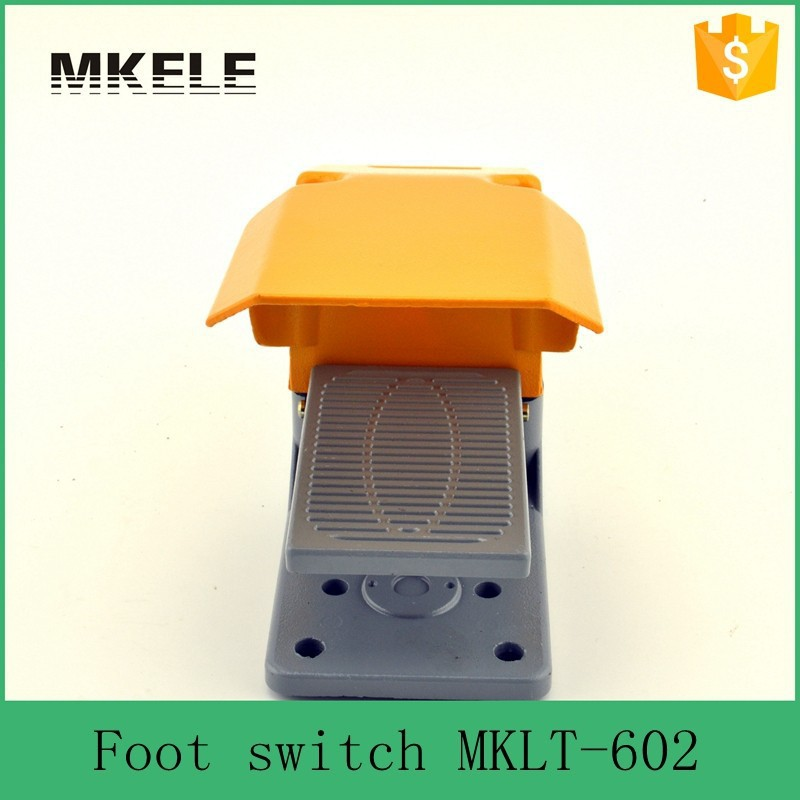 MKLT-602 low price foot operated single treadle foot switch ,tattoo machine foot switch china supplier ,aluminum foot switch(China (Mainland))