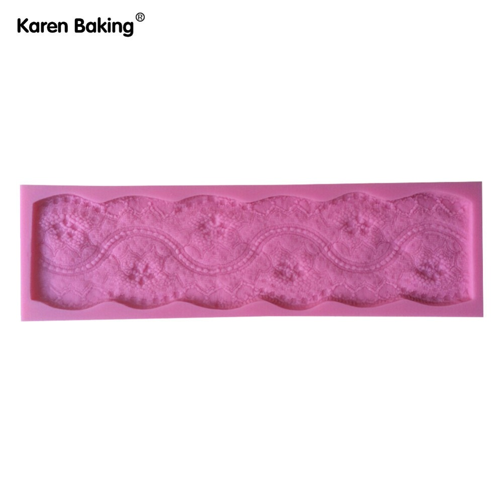 Charming Classical Design Chocolate Candy Silicone Fondant Lace Mold Mould Cake Decoration/Pastry Tools Y007(China (Mainland))